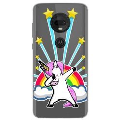 Funda Gel Transparente para Motorola Moto G7 / G7 Plus diseño Unicornio Dibujos