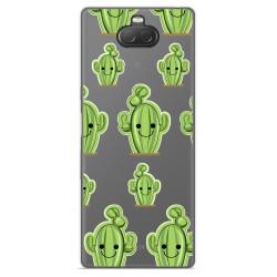 Funda Gel Transparente para Sony Xperia 10 diseño Cactus Dibujos
