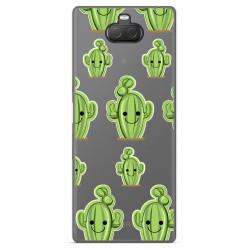 Funda Gel Transparente para Sony Xperia 10 Plus diseño Cactus Dibujos