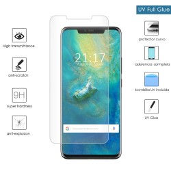Protector Cristal Templado Completo Curvo UV Full Glue para Huawei Mate 20 Pro