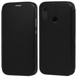 Funda Libro Soporte Magnética Elegance Negra para Huawei P20 Lite
