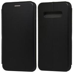 Funda Libro Soporte Magnética Elegance Negra para Samsung Galaxy S10