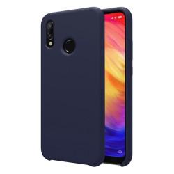 Funda Silicona Líquida Ultra Suave para Xiaomi Redmi Note 7 color Azul oscura