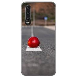 Funda Gel Tpu para Huawei P30 diseño Apple Dibujos