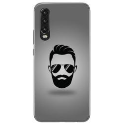 Funda Gel Tpu para Huawei P30 diseño Barba Dibujos