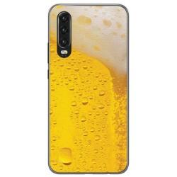 Funda Gel Tpu para Huawei P30 diseño Cerveza Dibujos