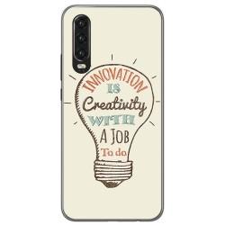 Funda Gel Tpu para Huawei P30 diseño Creativity Dibujos