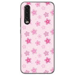 Funda Gel Tpu para Huawei P30 diseño Flores Dibujos