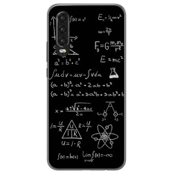 Funda Gel Tpu para Huawei P30 diseño Formulas Dibujos