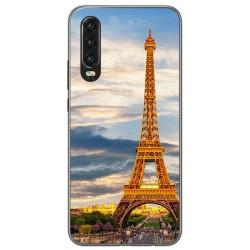 Funda Gel Tpu para Huawei P30 diseño Paris Dibujos