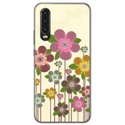 Funda Gel Tpu para Huawei P30 diseño Primavera En Flor Dibujos