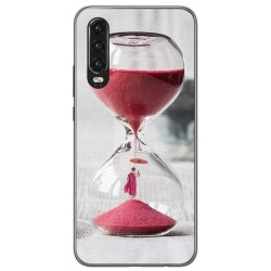Funda Gel Tpu para Huawei P30 diseño Reloj Dibujos