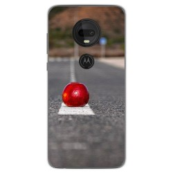 Funda Gel Tpu para Motorola Moto G7 / G7 Plus diseño Apple Dibujos