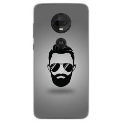 Funda Gel Tpu para Motorola Moto G7 / G7 Plus diseño Barba Dibujos