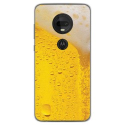 Funda Gel Tpu para Motorola Moto G7 / G7 Plus diseño Cerveza Dibujos