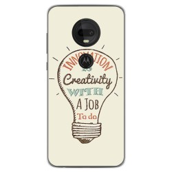 Funda Gel Tpu para Motorola Moto G7 / G7 Plus diseño Creativity Dibujos