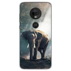 Funda Gel Tpu para Motorola Moto G7 / G7 Plus diseño Elefante Dibujos