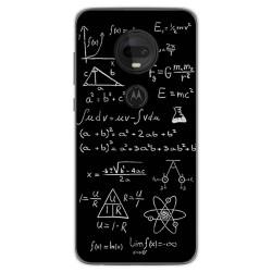 Funda Gel Tpu para Motorola Moto G7 / G7 Plus diseño Formulas Dibujos