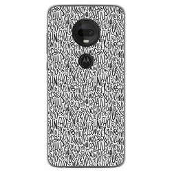 Funda Gel Tpu para Motorola Moto G7 / G7 Plus diseño Letras Dibujos