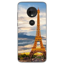 Funda Gel Tpu para Motorola Moto G7 / G7 Plus diseño Paris Dibujos