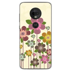 Funda Gel Tpu para Motorola Moto G7 / G7 Plus diseño Primavera En Flor Dibujos