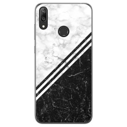 Funda Gel Tpu para Huawei Y7 2019 diseño Mármol 01 Dibujos