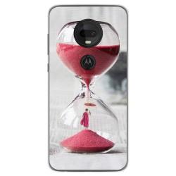 Funda Gel Tpu para Motorola Moto G7 / G7 Plus diseño Reloj Dibujos