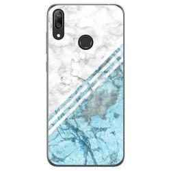 Funda Gel Tpu para Huawei Y7 2019 diseño Mármol 02 Dibujos
