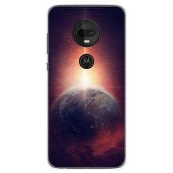 Funda Gel Tpu para Motorola Moto G7 / G7 Plus diseño Tierra Dibujos