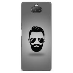 Funda Gel Tpu para Sony Xperia 10 diseño Barba Dibujos