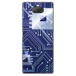 Funda Gel Tpu para Sony Xperia 10 diseño Circuito Dibujos