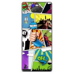 Funda Gel Tpu para Sony Xperia 10 diseño Comic Dibujos