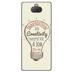 Funda Gel Tpu para Sony Xperia 10 diseño Creativity Dibujos