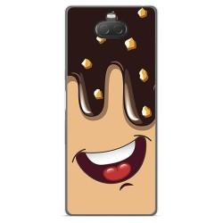 Funda Gel Tpu para Sony Xperia 10 diseño Helado Chocolate Dibujos