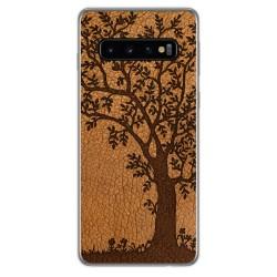 Funda Gel Tpu para Samsung Galaxy S10 Plus diseño Cuero 03 Dibujos