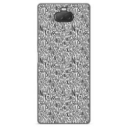Funda Gel Tpu para Sony Xperia 10 diseño Letras Dibujos