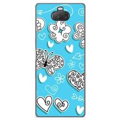 Funda Gel Tpu para Sony Xperia 10 diseño Mariposas Dibujos