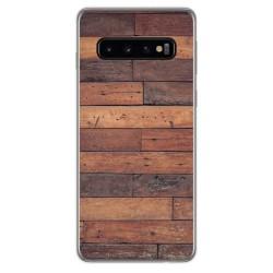 Funda Gel Tpu para Samsung Galaxy S10 Plus diseño Madera 03 Dibujos