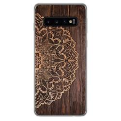 Funda Gel Tpu para Samsung Galaxy S10 Plus diseño Madera 06 Dibujos