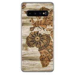 Funda Gel Tpu para Samsung Galaxy S10 Plus diseño Madera 07 Dibujos