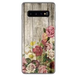 Funda Gel Tpu para Samsung Galaxy S10 Plus diseño Madera 08 Dibujos
