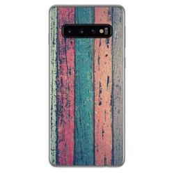 Funda Gel Tpu para Samsung Galaxy S10 Plus diseño Madera 10 Dibujos