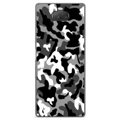 Funda Gel Tpu para Sony Xperia 10 diseño Snow Camuflaje Dibujos