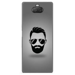 Funda Gel Tpu para Sony Xperia 10 Plus diseño Barba Dibujos