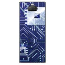Funda Gel Tpu para Sony Xperia 10 Plus diseño Circuito Dibujos