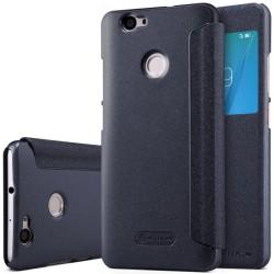 Funda Flip Negra Nillkin Modelo Sparkle para Huawei Nova