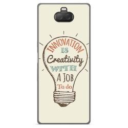 Funda Gel Tpu para Sony Xperia 10 Plus diseño Creativity Dibujos