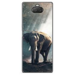 Funda Gel Tpu para Sony Xperia 10 Plus diseño Elefante Dibujos