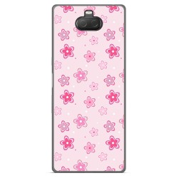 Funda Gel Tpu para Sony Xperia 10 Plus diseño Flores Dibujos