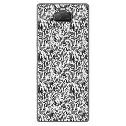 Funda Gel Tpu para Sony Xperia 10 Plus diseño Letras Dibujos